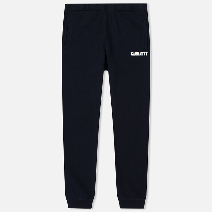 Мужские брюки Carhartt WIP College 9.4 Oz Dark Navy/White