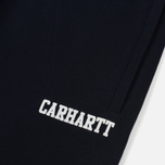Мужские брюки Carhartt WIP College 9.4 Oz Dark Navy/White фото- 2