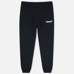 Carhartt WIP College Sweat Men`s Trousers Black/White photo- 0