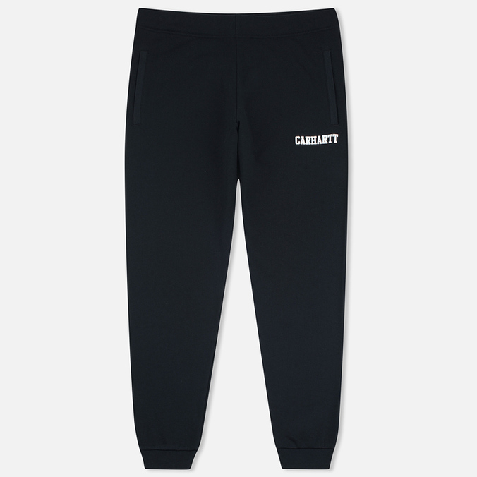 Carhartt WIP College Sweat Men`s Trousers Black/White