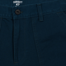 Мужские брюки Carhartt WIP Fatigue 12 Oz Duck Blue Rinsed фото- 3