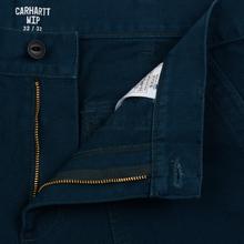 Мужские брюки Carhartt WIP Fatigue 12 Oz Duck Blue Rinsed фото- 4