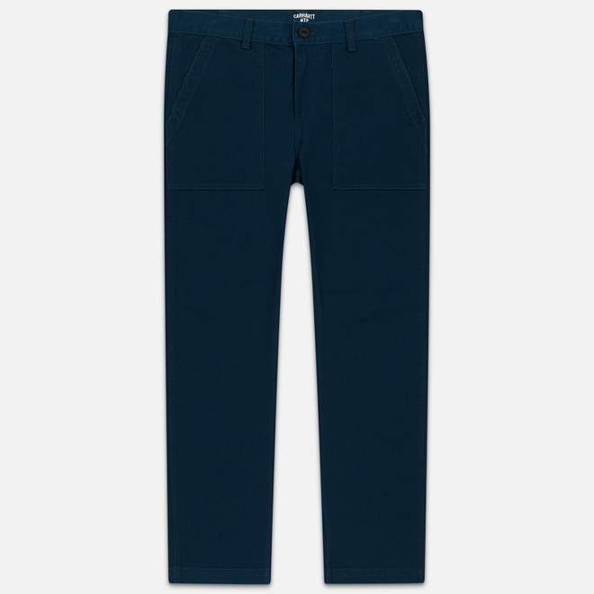 Мужские брюки Carhartt WIP Fatigue 12 Oz Duck Blue Rinsed