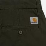 Мужские брюки Carhartt WIP Johnson 8.75 Oz Cypress Rinsed фото- 4