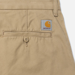 Мужские брюки Carhartt WIP Johnson 8.75 Oz Leather Rinsed фото- 3