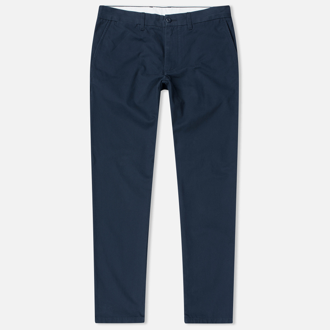 Carhartt WIP Johnson 8.75 Oz Men`s Trousers Navy Rinsed