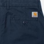 Carhartt WIP Johnson 8.75 Oz Men`s Trousers Navy Rinsed photo- 3