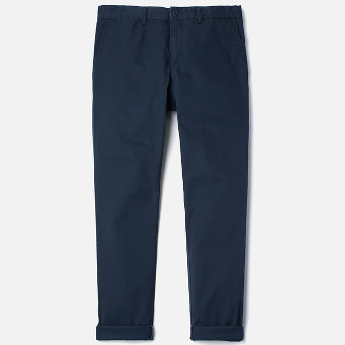 Мужские брюки Carhartt WIP Johnson Questa Twill 6 Oz Duke Blue Rinsed