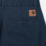 Мужские брюки Carhartt WIP Johnson Questa Twill 6 Oz Duke Blue Rinsed фото- 3