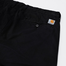 Мужские брюки Carhartt WIP Johnson Twill 8.4 Oz Black фото- 1