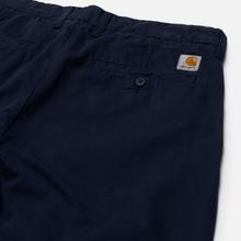 Мужские брюки Carhartt WIP Johnson Twill 8.4 Oz Dark Navy фото- 1