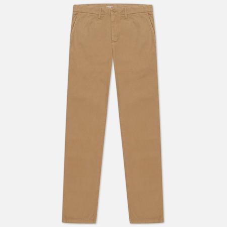 Мужские брюки Carhartt WIP Johnson Twill 8.4 Oz Leather