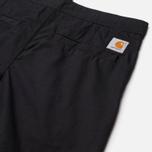 Мужские брюки Carhartt WIP Marshall Jogger 6.5 Oz Black Rinsed фото- 2