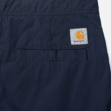 Мужские брюки Carhartt WIP Marshall Jogger 6.5 Oz Dark Navy Rinsed фото- 4