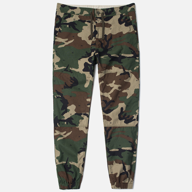 Carhartt WIP Marshall Jogger Men`s Trousers Duck Camo Rinsed