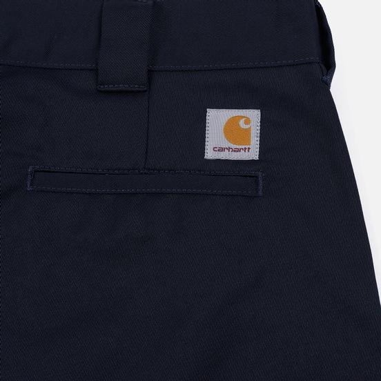 Мужские брюки Carhartt WIP Master 8.8 Oz Dark Navy Rinsed