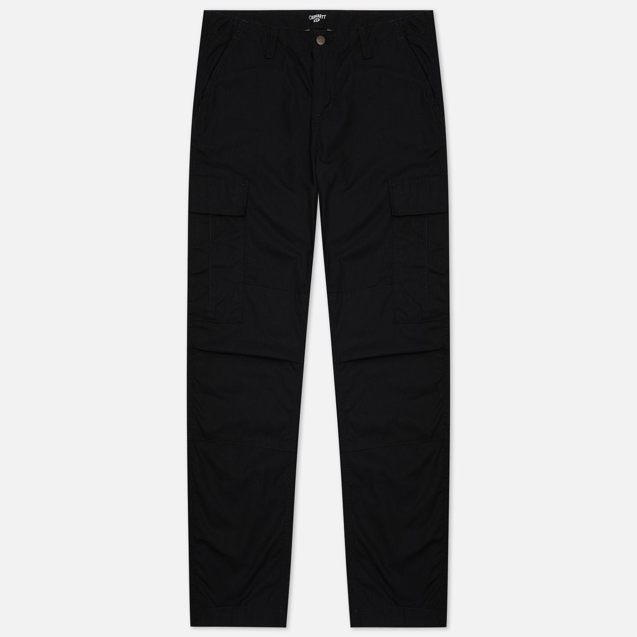 Мужские брюки Carhartt WIP Regular Cargo 6.5 Oz Black Rinsed