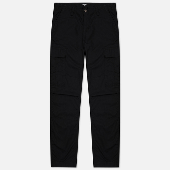 Мужские брюки Carhartt WIP Regular Cargo 6.5 Oz Black Rinsed