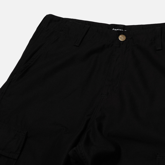 Мужские брюки Carhartt WIP Regular Cargo 8 Oz Black Stone Washed