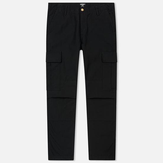 Мужские брюки Carhartt WIP Regular Cargo 8 Oz Black Stone Washed