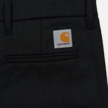 Мужские брюки Carhartt WIP Sid 6.5 Oz Black Heather фото- 4