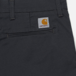 Мужские брюки Carhartt WIP Sid 8.6 Oz Blacksmith Rinsed фото- 3