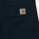 Мужские брюки Carhartt WIP Sid 8.6 Oz Dark Petrol Rinsed фото- 3