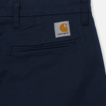 Мужские брюки Carhartt WIP Sid 8.6 Oz Navy Rinsed фото- 3