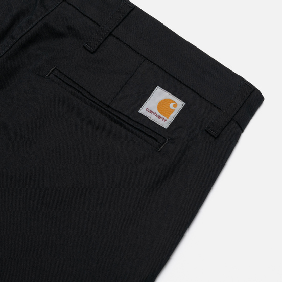 Мужские брюки Carhartt WIP Sid 8.6 Oz Black Rinsed