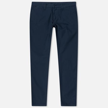 Carhartt WIP Sid 9.1 Oz Men`s Trousers Navy Rinsed