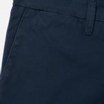 Мужские брюки Carhartt WIP Sid 9.1 Oz Navy Rinsed фото- 1