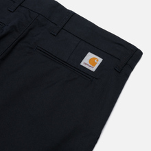 Мужские брюки Carhartt WIP Sid 8.6 Oz Dark Navy Rinsed фото- 2