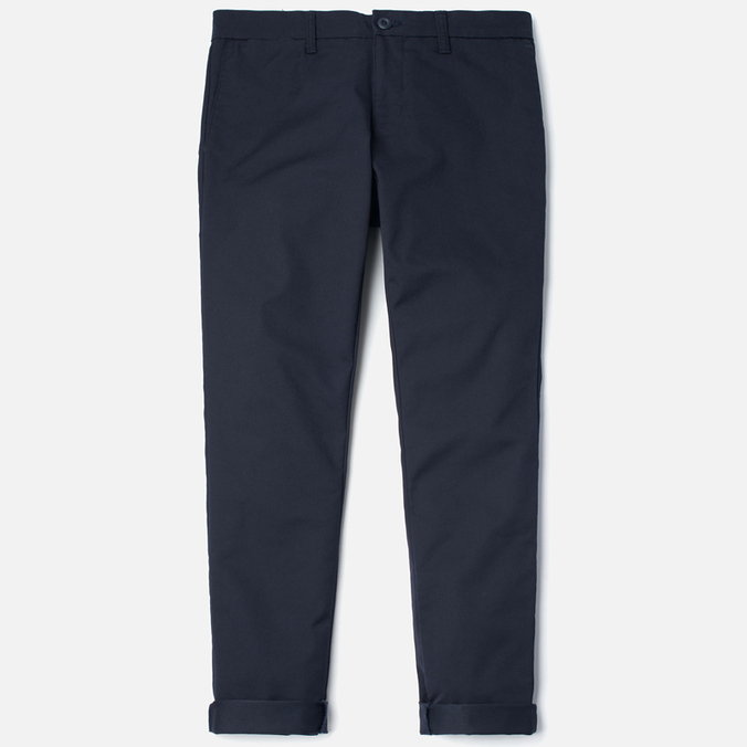 Мужские брюки Carhartt WIP Sid 8.8 Oz Dark Navy Rinsed