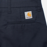 Мужские брюки Carhartt WIP Sid 8.8 Oz Dark Navy Rinsed фото- 3