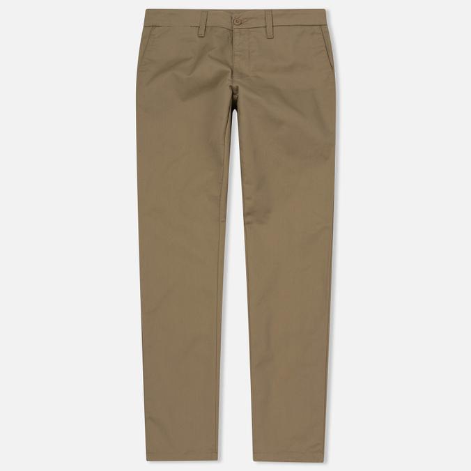 Мужские брюки Carhartt WIP Sid 8.6 Oz Leather Rinsed