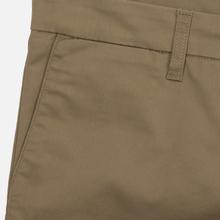 Мужские брюки Carhartt WIP Sid 8.6 Oz Leather Rinsed фото- 2