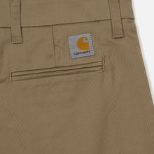 Мужские брюки Carhartt WIP Sid 8.6 Oz Leather Rinsed фото- 3