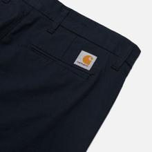 Мужские брюки Carhartt WIP Sid Pant 5.5 Oz Dark Navy Rinsed фото- 2