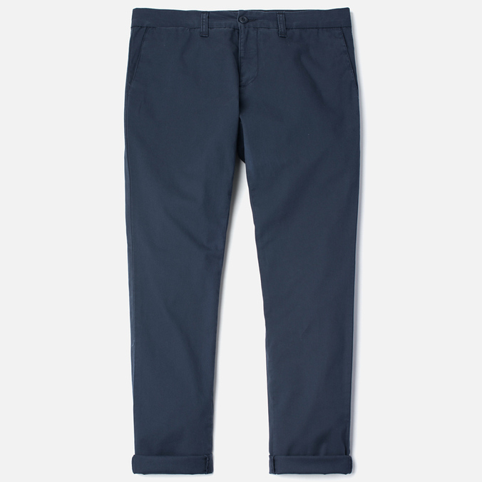 Carhartt WIP Sid Trabuco Stretch Twill 6 Oz Duke Men`s Trousers Blue Rinsed