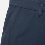 Мужские брюки Carhartt WIP Sid Trabuco Stretch Twill 6 Oz Duke Blue Rinsed фото- 2