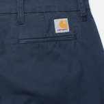 Carhartt WIP Sid Trabuco Stretch Twill 6 Oz Duke Men`s Trousers Blue Rinsed photo- 3