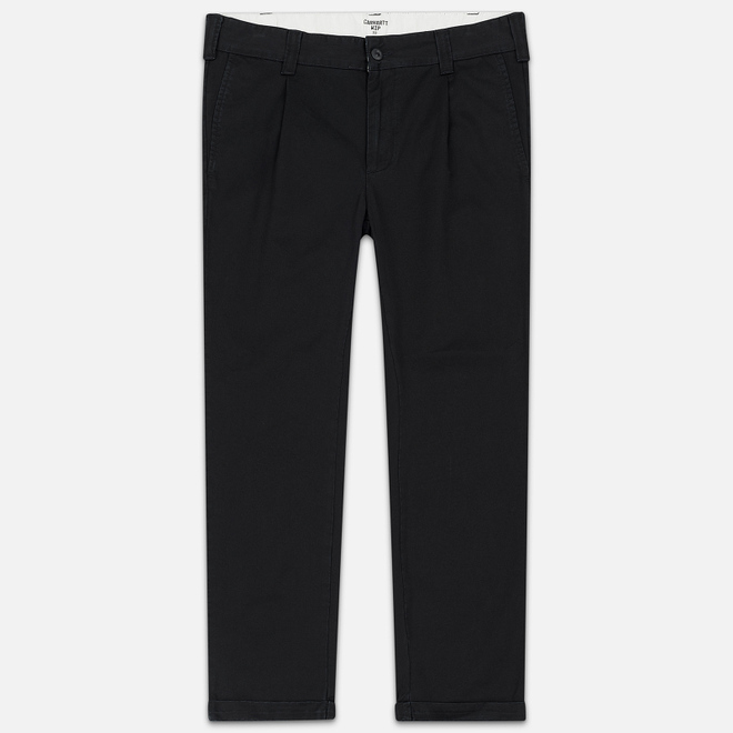 Мужские брюки Carhartt WIP Taylor 8 Oz Black Stone Washed