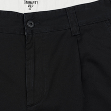 Мужские брюки Carhartt WIP Taylor 8 Oz Black Stone Washed фото- 1