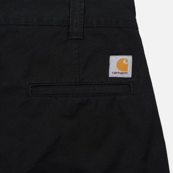 Мужские брюки Carhartt WIP Taylor 8 Oz Black Stone Washed