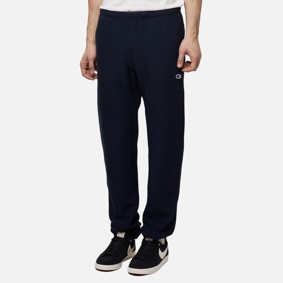 Мужские брюки Champion Reverse Weave Elastic Cuff Brushed Fleece New Navy