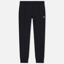 Мужские брюки Champion Reverse Weave Rib Cuffed Joggers Black фото- 0