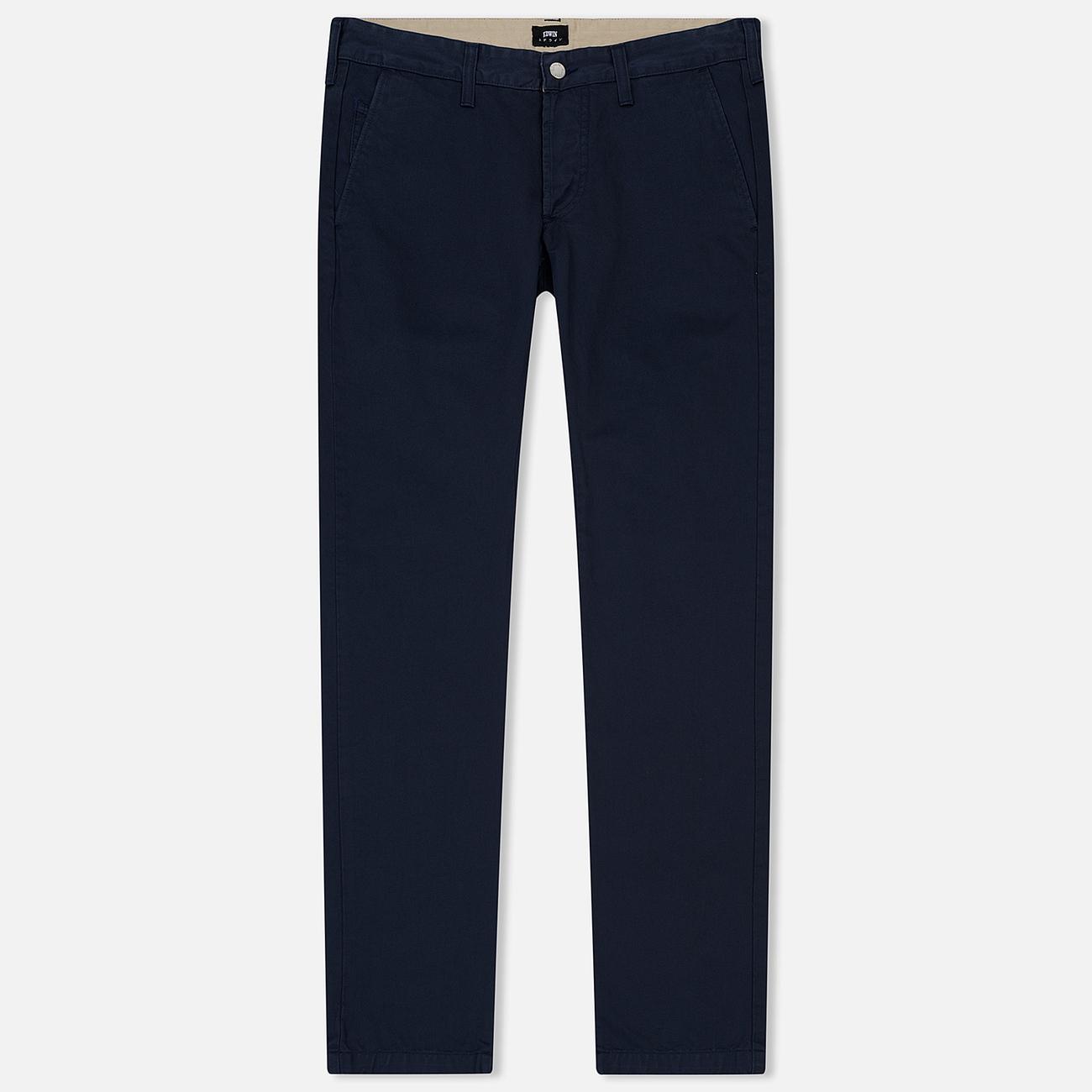 Мужские брюки Edwin 55 Chino Compact Twill 9 Oz Navy Rinsed