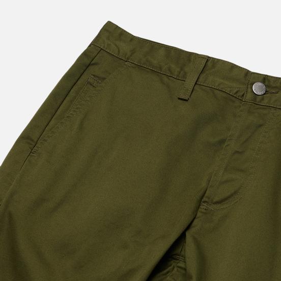 Мужские брюки Edwin ED-55 Chino Compact Twill 9 Oz Military Green Plain Rinsed
