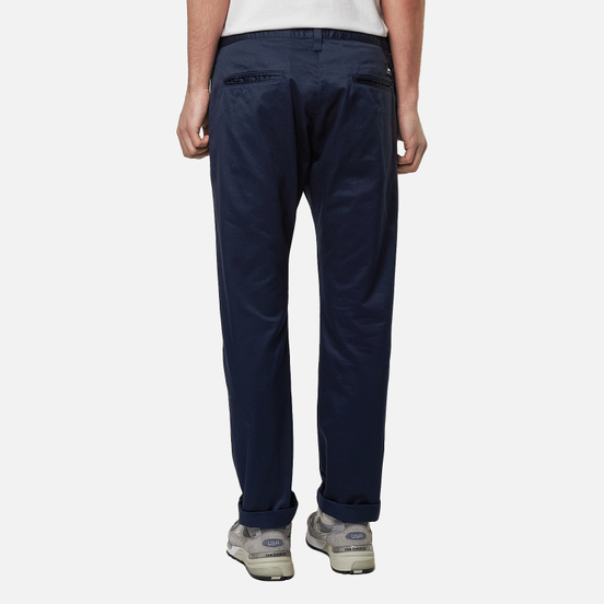Мужские брюки Edwin ED-55 Chino Compact Twill 9 Oz Navy Plain Rinsed