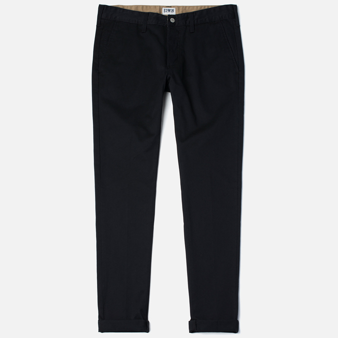 Edwin ED-55 Chino Compact Twill Men`s Trousers Black Rinsed
